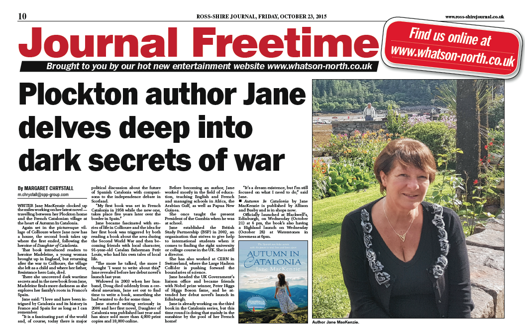 Jane MacKenzie in the Ross-shire Journal
