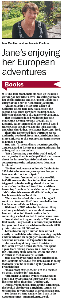 Jane MacKenzie in the Northern Times